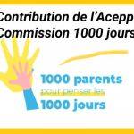 Contribution dans le cadre de la consultation de la commission 1000 jours – janvier 2020