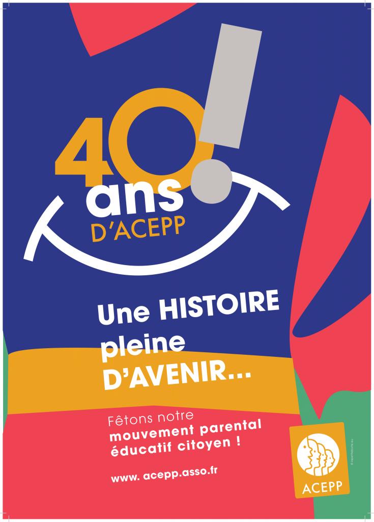 Fêtons les 40 ans  de l'Acepp les 15 et 16 octobre à Paris